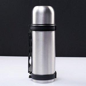 Термос туристический с прямой ручкой, 1 л, сохраняет тепло 24 ч, 10х28 см