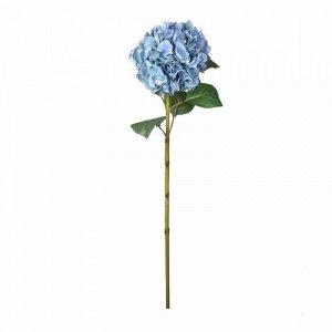 Искусственный цветок Гортензия голубая 83 см Ткань , полимер Цветы