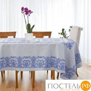 """Столовый набор """"Этель"""" (скатерть 150х200 см, салфетки 45х45 см - 6 шт.) цвет синий, хл. с ВМГО"""