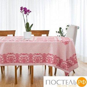 """Столовый набор """"Этель"""" (скатерть 150х200 см, салфетки 45х45 см - 6 шт.) цвет бордо, хл. с ВМГО"""