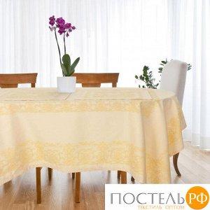 """Столовый набор """"Этель"""" (скатерть 150х300 см, салфетки 45х45 см - 12 шт.) цвет шампань, хл. с ВМГО"""