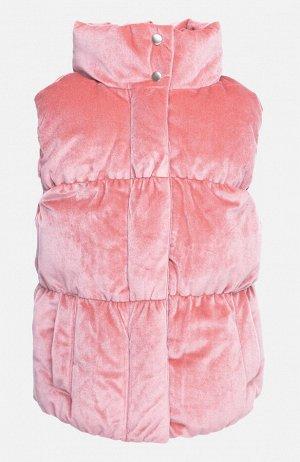 Жилет текстильный для девочек светло-розовый