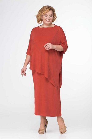 Накидка, платье Michel chic Артикул: 554 терракот