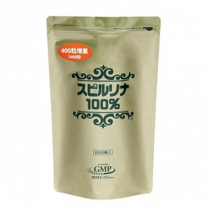 Спирулина 100% 2400 шт.  / Japan Algae