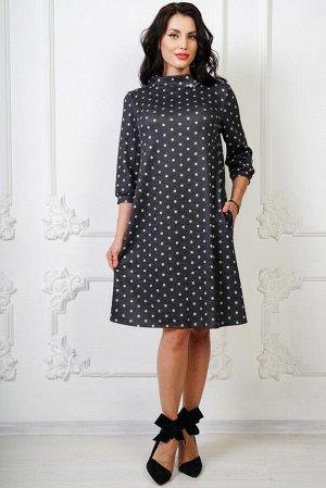 Платье Берта с брошкой П950-15
