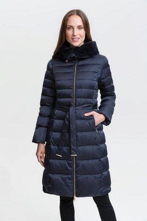 Пальто жен. Muss темно-голубой