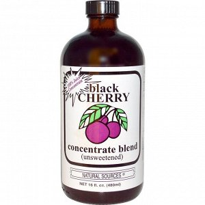 Natural Sources, Black Cherry Concentrate Blend, Unsweetened, 16 fl oz (480 ml)