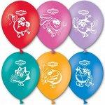 """12""""шар воздушный с рисунком Смешарики"""