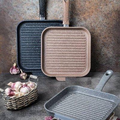 ASTERIA Посуда с антипригарным покрытием! Жарим без масла!10 — Сковородка ГРИЛЬ — Сковороды