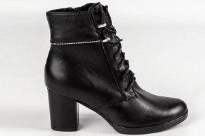 Ботинки Тип: ботинки и ботильоны  Сезон: демисезон Подошва: ТЭП Верх: натуральная кожа  Подклад: байка Высота каблука 7 см