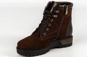 Ботинки Тип: ботинки Подошва: ТЭП  Вид застежки: молния и шнурки Верх: натуральный нубук