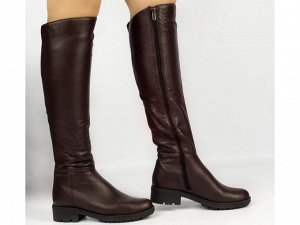 Ботфорты Тип: Ботфорты на худую ногу Материал верха: натуральная кожа Подошва - ТЭП  Байка  Объем голенища 35,5 см в 36/37 размере, 36,5 см в 38/39 размере, 37,5 в 40/41 размере. Объем голенища указан