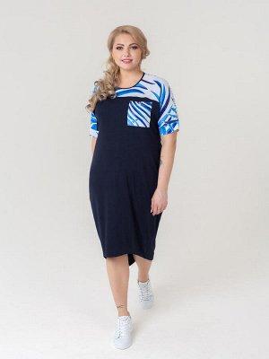 Платье Волна (синий)