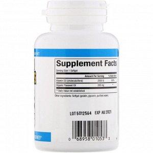 Natural Factors, Витамин D3, 2000 МЕ, 120 капсул