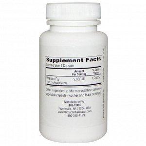 Bio Tech Pharmacal, D3-5 Cholecalciferol, 250 Capsules