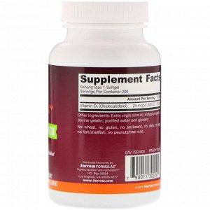 Jarrow Formulas, Vitamin D3, Cholecalciferol, 1,000 IU, 200 Softgels