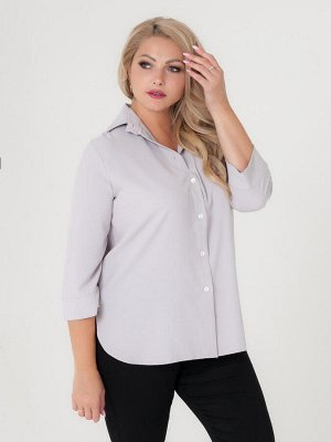 Блуза Цея Артикул: руб_цея_05сер; Длина изделия, см: 78; Длина рукава, см: длинный; Состав: 60% полиэстер, 35% вискоза, 5% эластан.; Цвет: серый Базовая блуза рубашка для женщин. Удобная модель свобод