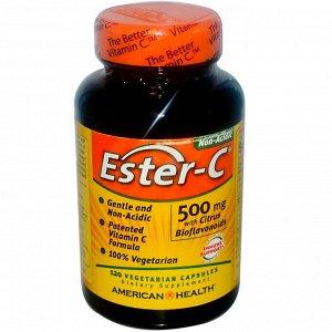 American Health, Ester-C, 500 мг, 120 вегетарианских капсул