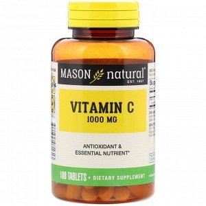 Mason Natural, Витамин С, 1000 мг, 100 таблеток