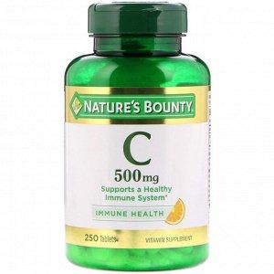 Nature&#x27 - s Bounty, Витамин С, 500 мг, 250 таблеток
