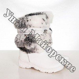 УП-05 Мех кролик, белая кожа, литая