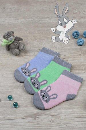 Носки Кролик детские плюш