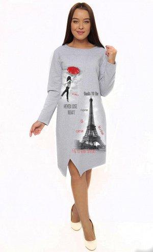 Платье Материал: футер Состав: 80% хлопок 20% пэ