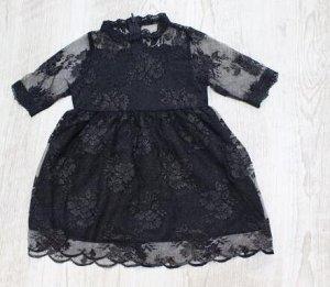 Платье Кружевное платье, очень нежное длина -48 см ог -27*2 см рукава-19 см плечи-20,5 см