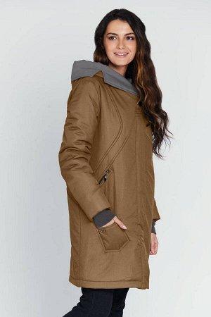 """Пальто """"Береника""""  коричневый"""