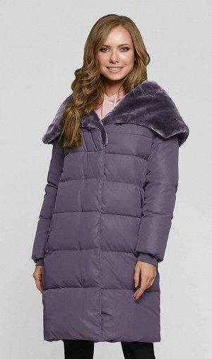 """Пальто """"Августа""""  серо-фиолетовый"""