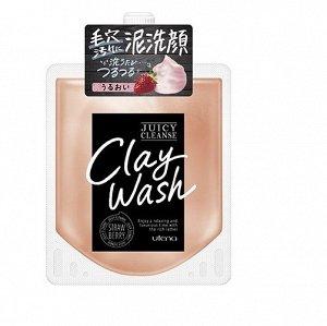 """Пенящийся скраб для лица """"Juicy Cleanse"""" из глины с аргановым маслом и экстрактом клубники   110 г / 36"""