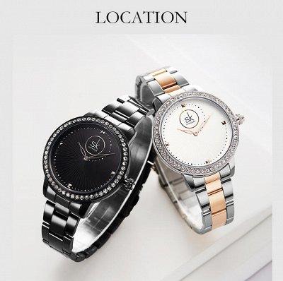 Shengke - часы с японским качеством! 5 Отличные отзывы! — Металлический ремень — Часы