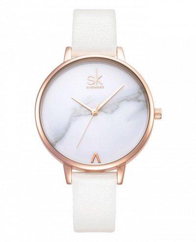 Shengke - часы с японским качеством! 5 Отличные отзывы! — Кожаный ремешок — Часы