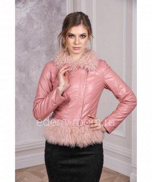 Куртка из эко-кожи розового цветаАртикул: RS-1719-P