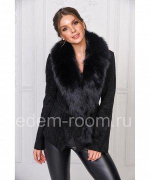 Замшевая куртка с меховым воротникомАртикул: SF-K910-CH