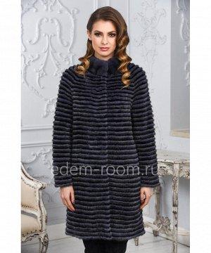 Женское норковое пальто на кашемиреАртикул: M-17014-SN-CH