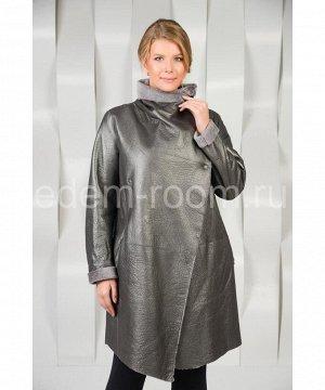 Стильное пальто из меха кёрлиАртикул: AL-6337-85-S
