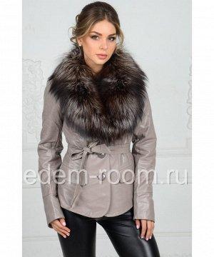 Куртка из эко-кожи на демисезонную погодуАртикул: RS-219-SR
