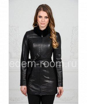 Удлинённая кожаная курткаАртикул: F-6106-N