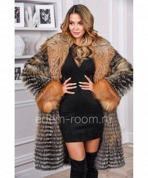 Меховое пальто в росшивАртикул: RE-1156-TR