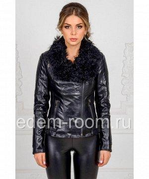 Женская куртка из эко-кожи с мехомАртикул: RS-815-CH