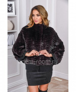 Меховая куртка из меха кроликаАртикул: RE-7316-K