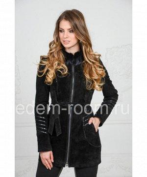 Весенне - осенняя куртка из замшевой кожиАртикул: F-1656-Z