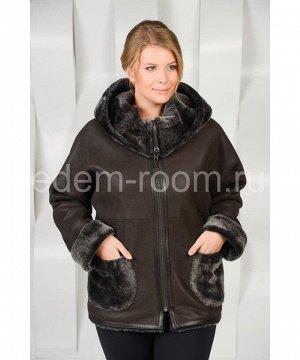 Женская дублёнка - курткаАртикул: AL-1809-65-K