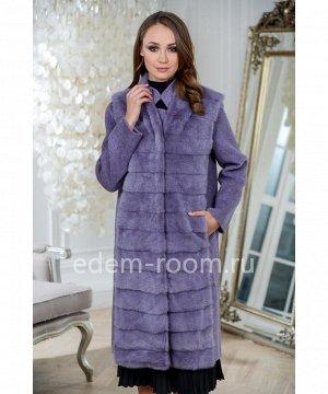 Пальто с жилетом из меха норки 3в1Артикул: RE-82007-100-FL-N