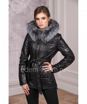 Утеплённая куртка из кожиАртикул: DJ-8060-CH
