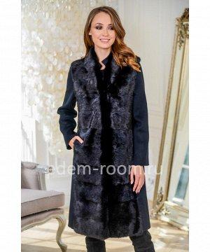 Пальто 3в1 с мехом импортной норкиАртикул: RE-82007-100-CH-N