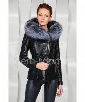 Куртка из эко-кожи с натуральным мехомАртикул: RS-563-1-CH