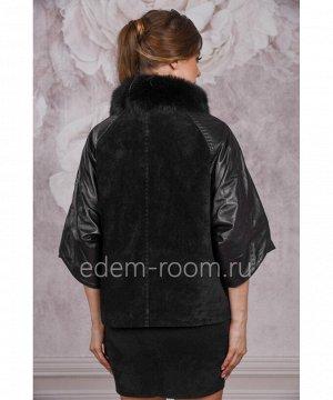 Комбинированная куртка из кожи  и замшиАртикул: TG-6640-CH