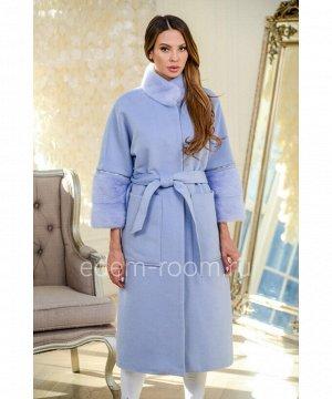 Стильное пальто с мехом норкиАртикул: NT-178-120-GL-N